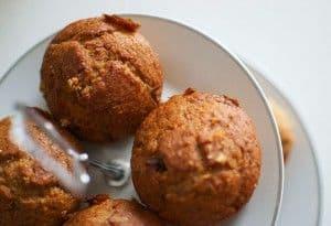 Muffins veganos de plátano