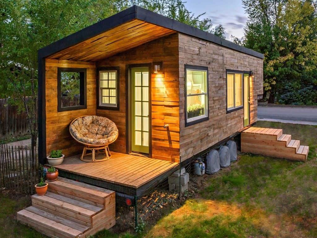 Casa de madera de Macy Miller