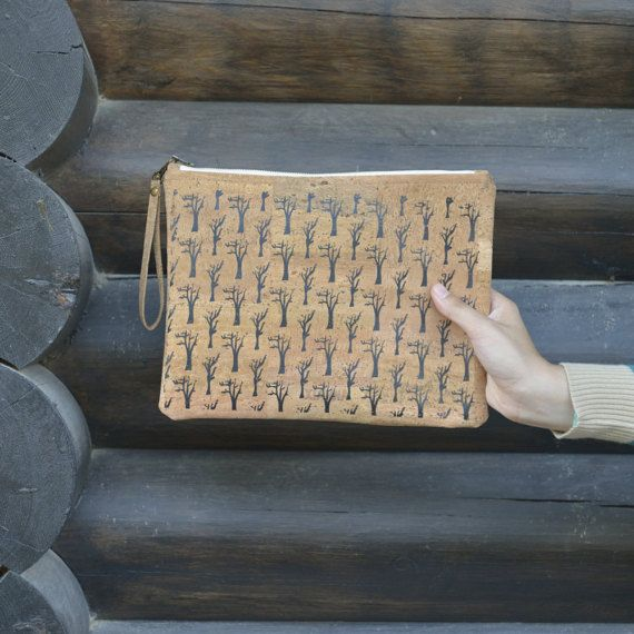 Natural cork clutch Sycamore Trees
