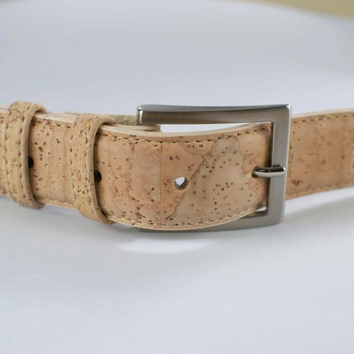 cinturon vegano de corcho natural