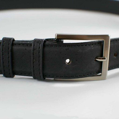 cinturon corcho hombre vegano negro