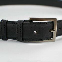 cinturon vegano corcho negro
