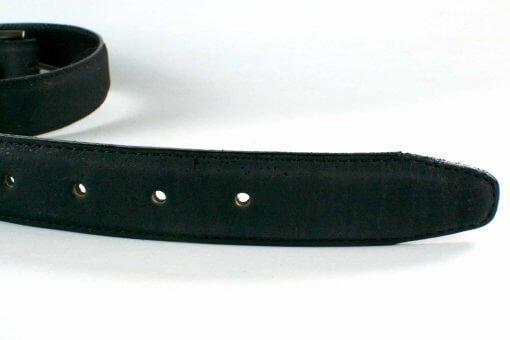 cinturones veganos cinturon negro de corcho