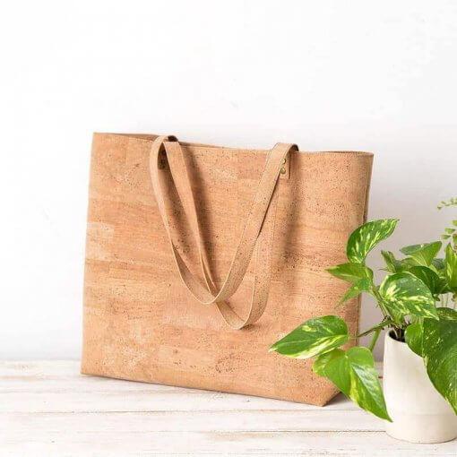 bolso de tela de corcho