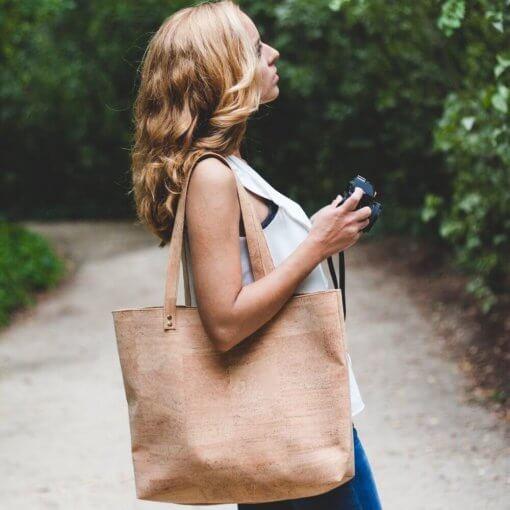 Bolso de tela de corcho hecho a mano modelo 2