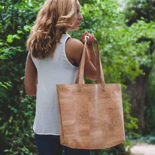Bolso de tela de corcho hecho a mano modelo 3