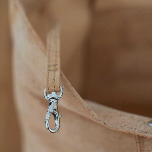 Bolso de tela de corcho hecho a mano interior 1