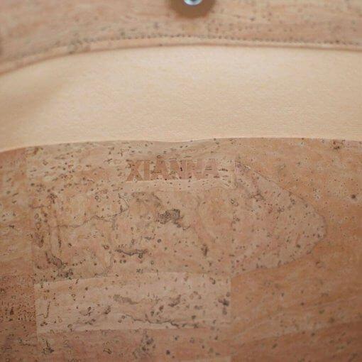 Bolso de tela de corcho hecho a mano interior 2