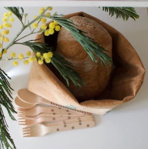 cubremaceta cesto corcho estampado