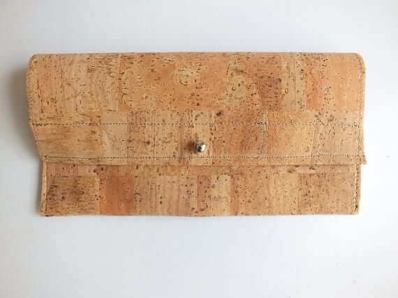 Cork wallet / vegan wallet / cork clutch - handmade of natural cork