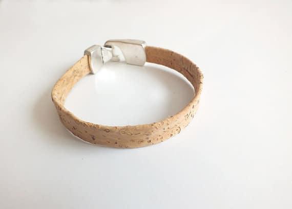 Unisex cork leather bracelet / vegan bracelet
