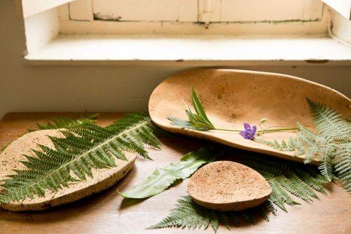 plato corcho estilo rustico