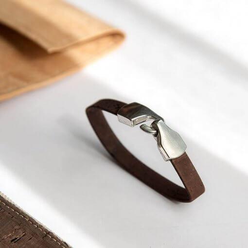 pulsera corcho marron