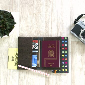 cork passport cover brown