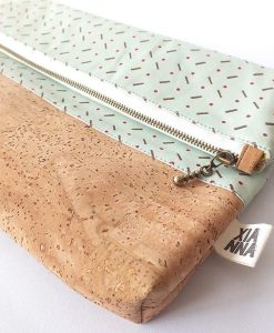 fold over cork clutch licorice xianna
