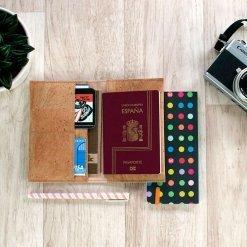 pasaportera corcho natural