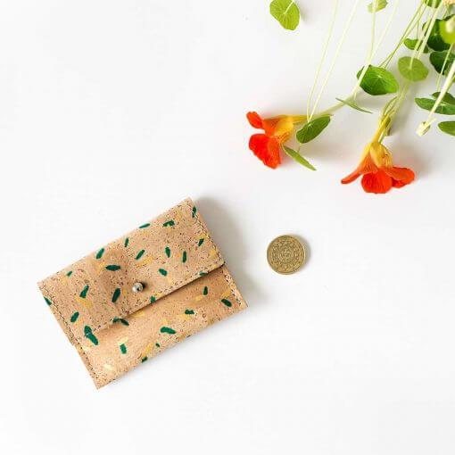 monedero corcho natural estampado