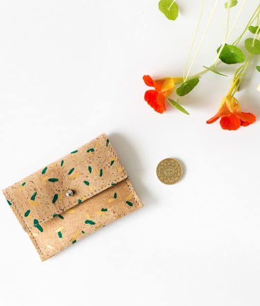 monedero corcho natural estampado