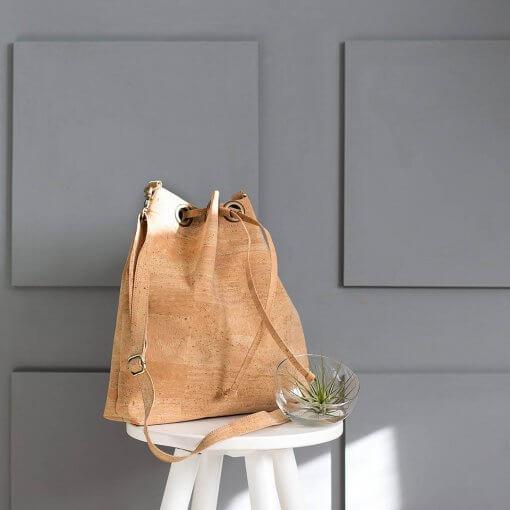 bolsos piel vegana bolso saco de corcho natural