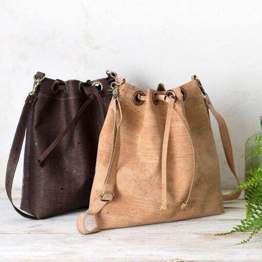 bolsos sostenibles bolso saco de corcho