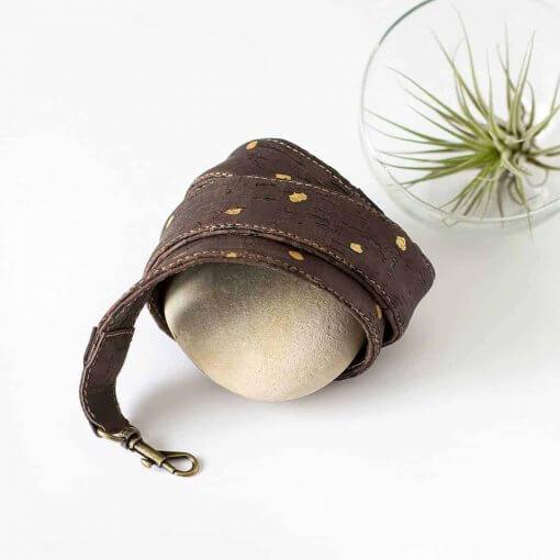 correas para bolsos veganos corcho lunares