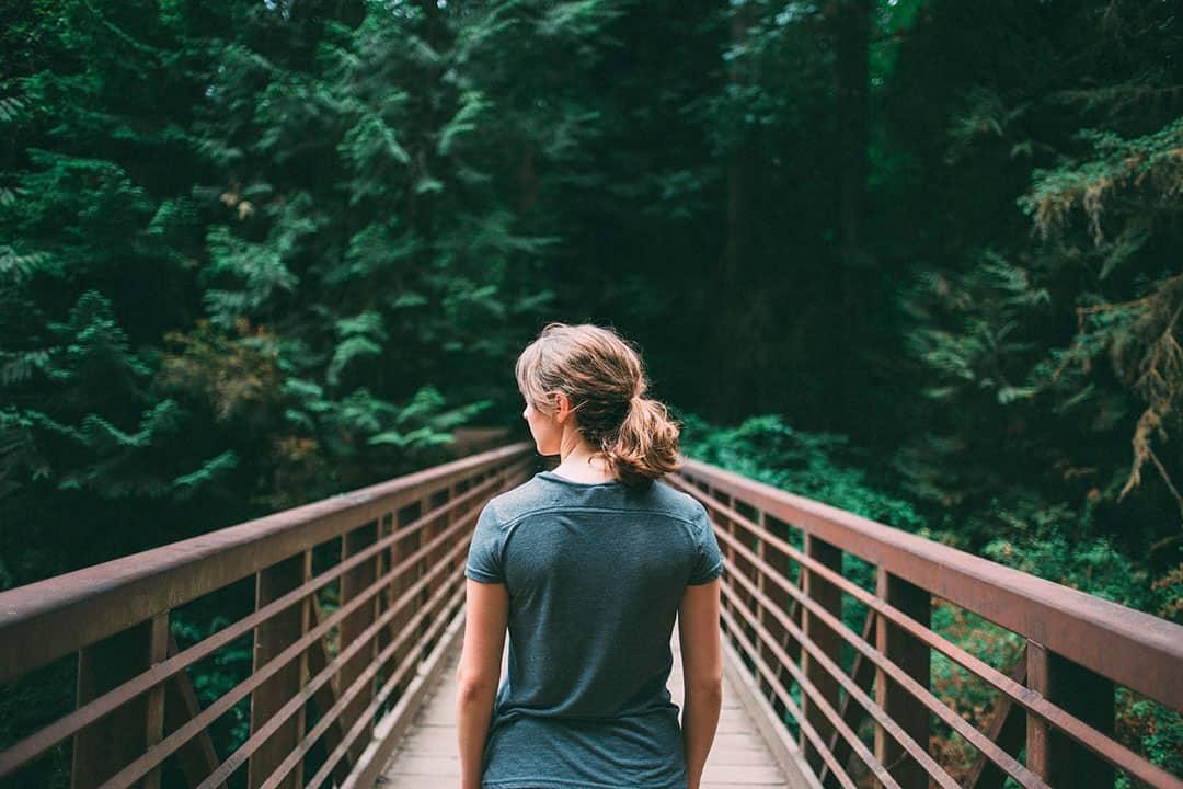 sumergirse en el bosque