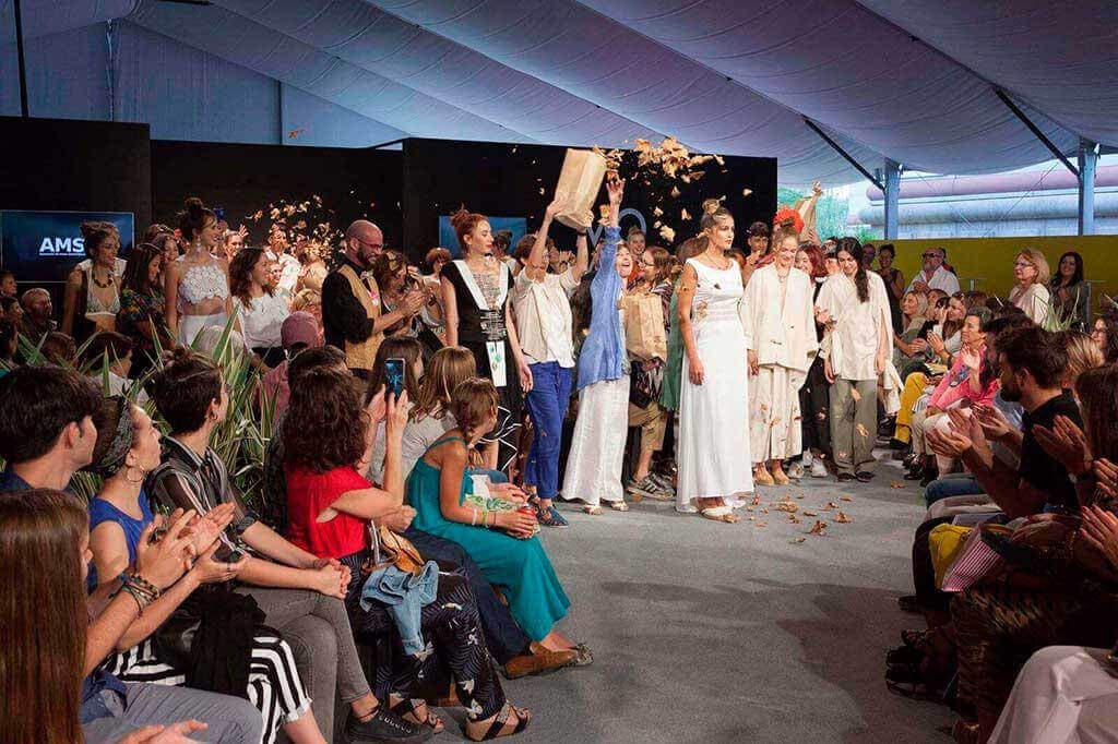 Final del desfile de Moda Sostenible España