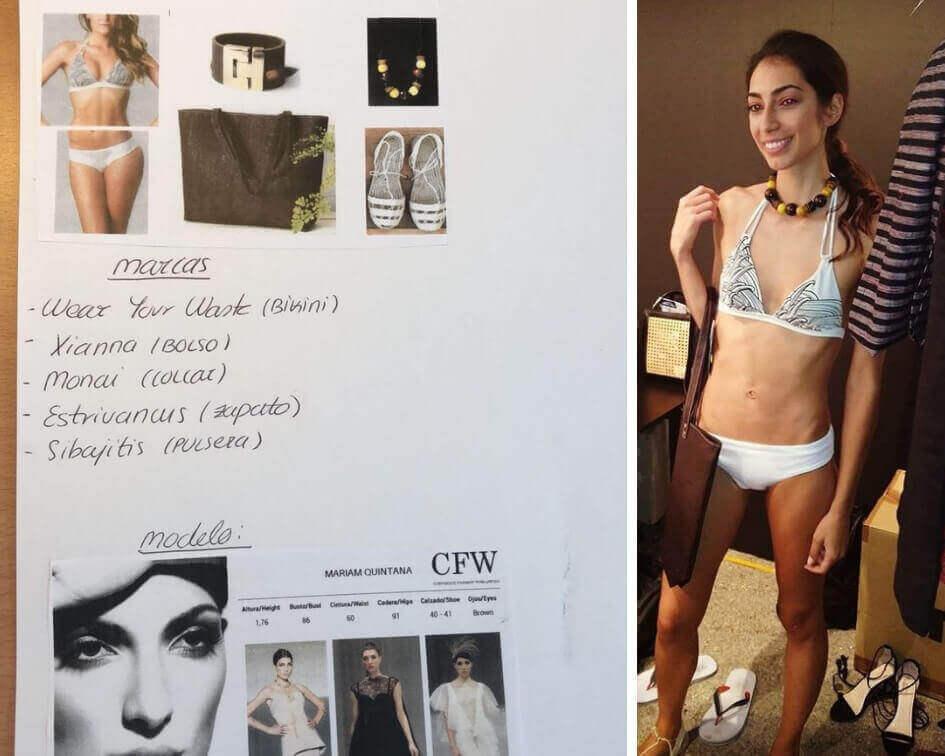 Preparación del desfile de Moda Sostenible España