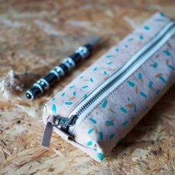 printed cork pencil case
