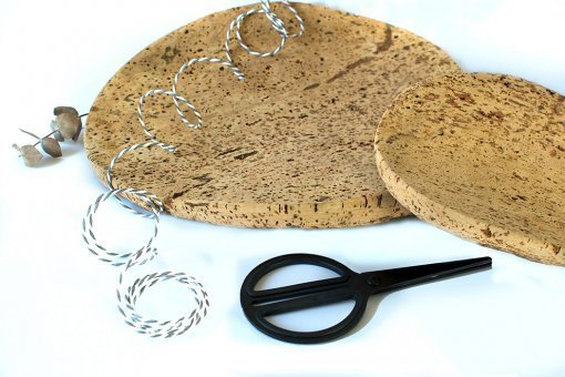 eco gift pack set natural cork trays